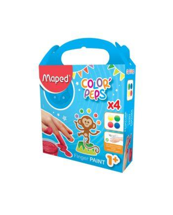 Δακτυλομπογιές σε Βαζάκι MAPED (4x80gr) 812510