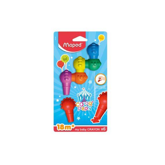 Κηρομπογιές MAPED Baby 6 χρώματα 863106
