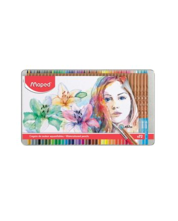 Ξυλομπογίες Νερού Artist MAPED 36 Χρώματα (σε μεταλλική συσκευασία) 832436