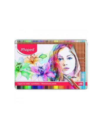 Ξυλομπογίες Νερού Artist MAPED 48 Χρώματα (σε μεταλλική συσκευασία) 832448