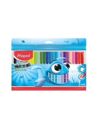 Μαρκαδόροι MAPED Color'Peps Ocean 24 Χρώματα 845722