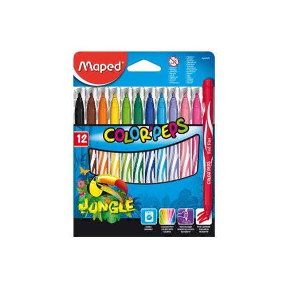 Μαρκαδόροι MAPED Jungle Color'Peps 12 Χρώματα 845420