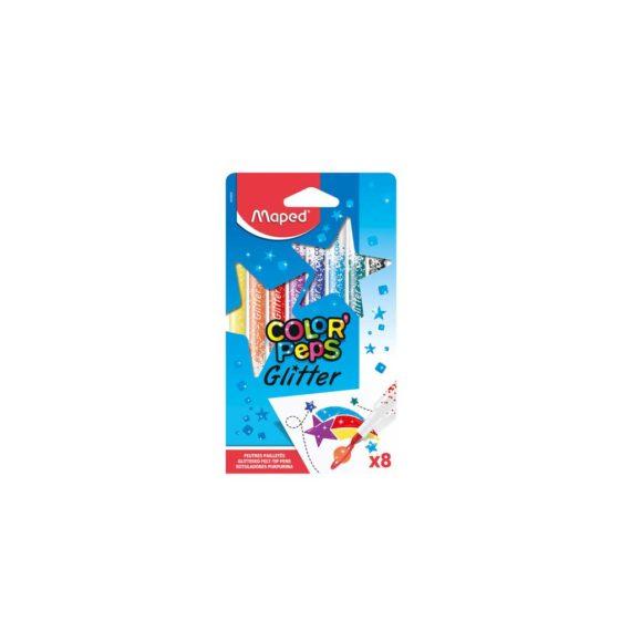 Μαρκαδόροι Με Glitter MAPED 8 χρώματα 845808