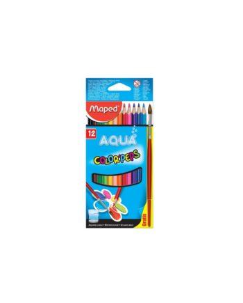 Ξυλομπογιές Ακουαρέλας MAPED Aqua Color Peps 12 Χρώματα 836011