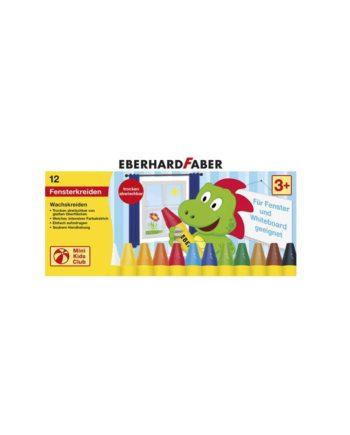 Κηρομπογιές για Τζάμι EBERHARD FABER 12 χρώματα 5241-12