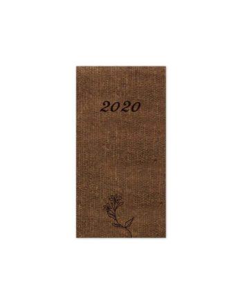 Ατζέντα Εβδομαδιαία 2020 NATURALE 9x17cm Κάθετη
