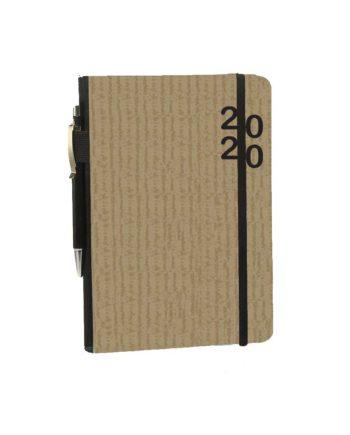 Ημερολόγιο Ημερήσιο 2020 με λάστιχο ECO 14x21cm (+στυλό)