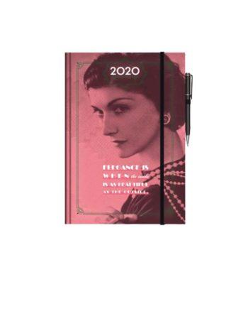 Ημερολόγιο Ημερήσιο 2020 με λάστιχο QUOTE 12x17cm  (+στυλό)