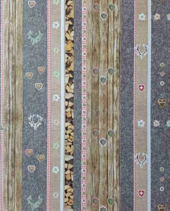 Χαρτόνι 50x70cm Alpenchic Wood - Διπλής Όψης