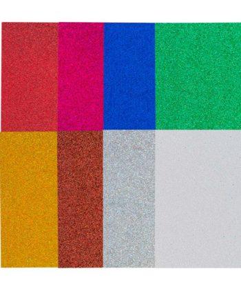 Χαρτόνι Glitter 50x70cm Μονοχρωμία - Διάφορα Χρώματα