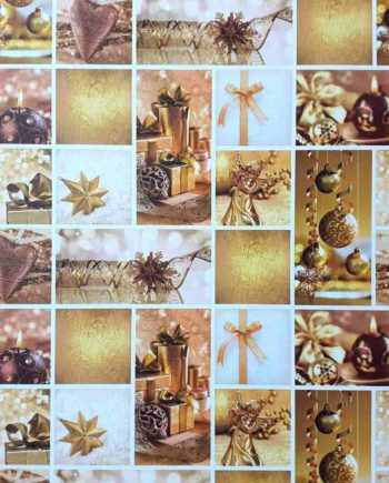Χαρτόνι 50x70cm Gold Xmas - Διπλής Όψης