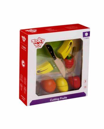 Ξύλινα Φρούτα με Ξύλο Κοπής TOOKY TOY TKB602