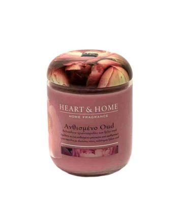 Αρωματικό Κερί HEART & HOME Ανθισμένο Oud 340gr (Μεγάλο) 275000333