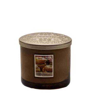 Αρωματικό Κερί Διπλό Φυτίλι HEART & HOME Ψητό Μήλο 230gr 276260210