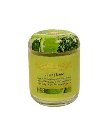 Αρωματικό Κερί HEART & HOME Ένταση Lime 115gr (Μεσαίο) 275010215