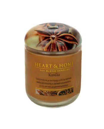 Αρωματικό Κερί HEART & HOME Κανέλα 115gr (Μεσαίο) 275010202