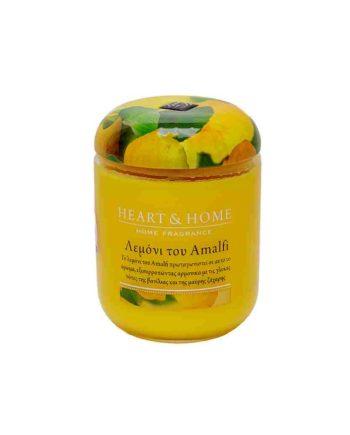 Αρωματικό Κερί HEART & HOME Λεμόνι του Amalfi 340gr (Μεγάλο) 275000329