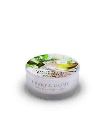 Αρωματικό Κερί HEART & HOME Λευκό Τσάι & Ευκάλυπτος 38gr (Ρεσώ) 276380331