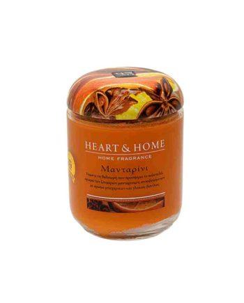 Αρωματικό Κερί HEART & HOME Μανταρίνι 340gr (Μεγάλο) 275000334