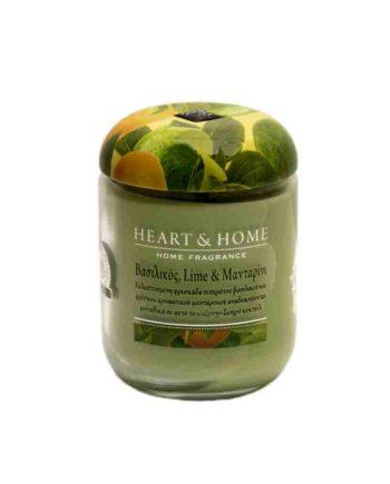 Αρωματικό Κερί HEART & HOME Βασιλικός