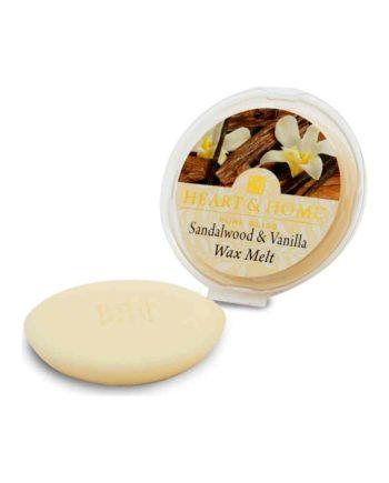 Αρωματικό Wax Melt Κερί HEART & HOME Σανταλόξυλο & Βανίλια 26gr 275050312