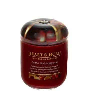 Αρωματικό Κερί HEART & HOME Ζεστό Καλωσόρισμα 115gr (Μεσαίο) 275010206