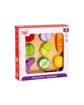Ξύλινα  Σφηνώματα Λαχανικά και Δίσκος Κοπής TOOKY TOY TL041