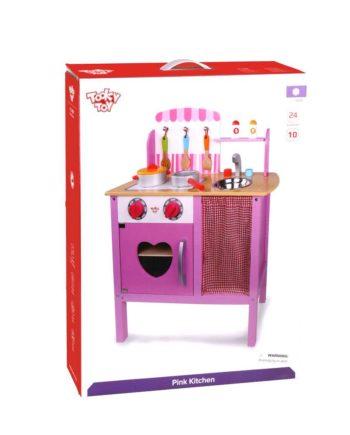 Ξύλινη Κουζίνα Ροζ TOOKY TOY TKC429