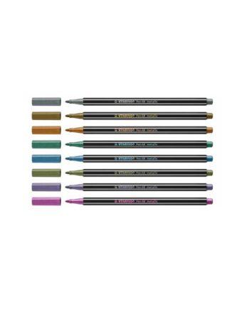 Μαρκαδόρος Ψιλής Γραφής STABILO Pen 68 Metallic 1τεμ. - Διάφορα Χρώματα