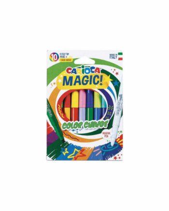 Μαγικοί μαρκαδόροι CARIOCA Magic 9+1 χρώματα 42737