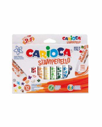 Μαρκαδόροι - Στάμπες CARIOCA Stamperello 12 χρώματα 42240
