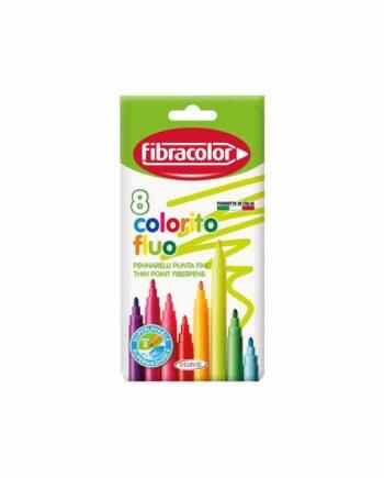 Μαρκαδόροι FIBRACOLOR Colorito Fluo 8 χρώματα 550SW008SE