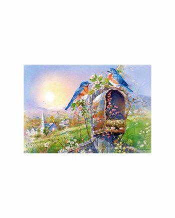Puzzle CASTORLAND Birds and Mailbox 102662 - 1000 κομμάτια