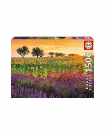 Puzzle EDUCA Field of Sunflowers and Lavender 17669 - 1500 κομμάτια
