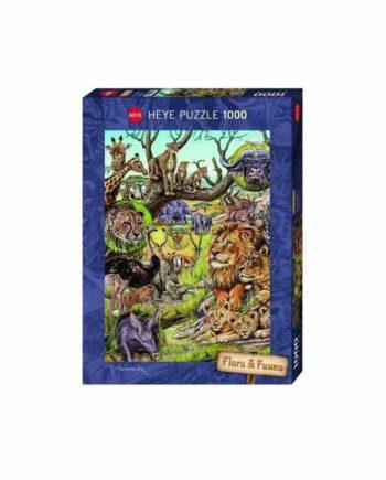 Puzzle HEYE Flora & Fauna - Savannah 29661 - 1000 κομμάτια