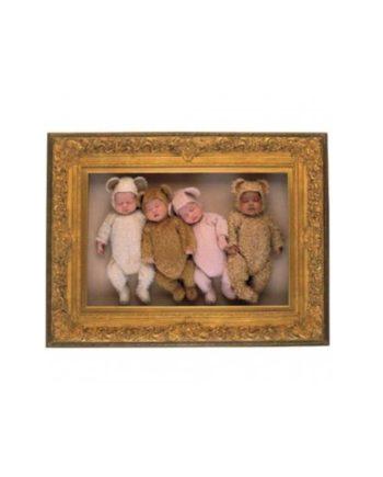 Puzzle SCHMIDT Four Teddies in Gold Frame by Anne Geddes 57945 - 2000 κομμάτια