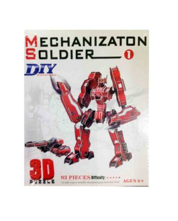 3d puzzle build my world mechanization soldier tetragono 2