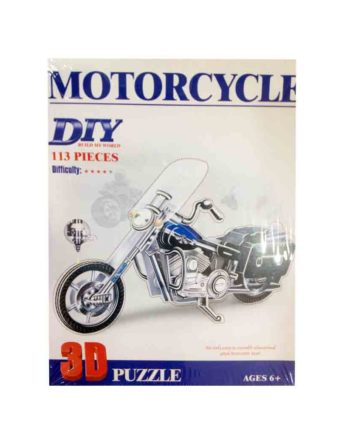 3d puzzle build my world motorcycle tetragono 2
