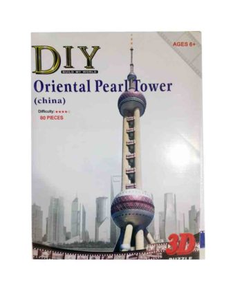 3d puzzle build my world oriental pearl tower tetragono 2