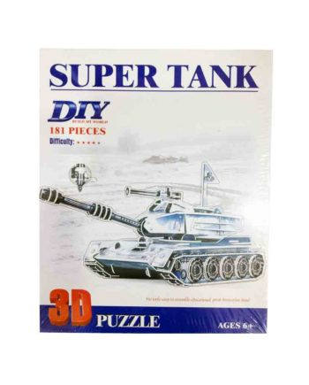 3d puzzle build my world super tank tetragono 2