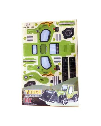 3d puzzle engineering truck tetragono 2